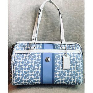 Coach Chelsea Signature Blue/White Satchel F15132